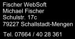 Impressum Fischer WebSoft